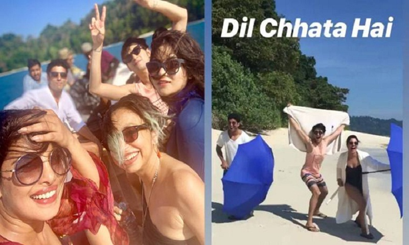 Priyanka Chopra, Farhan Akhtar reach Andamans for The Sky Is Pink shoot