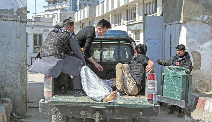 Blasts strike near major political gathering in Kabul
