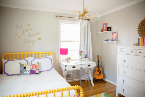 Keeping kids' rooms calm, colorful and  tidy