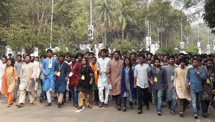DUCSU polls: Protesters call indefinite strike at Dhaka University, demand re-election