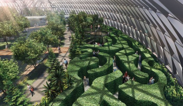 Singapore airport introduces new indoor forest and rides