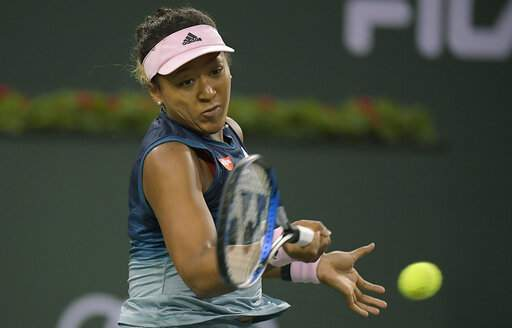Osaka advances in straight sets at Indian Wells