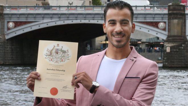 Refugee footballer, gets Australian citizenship