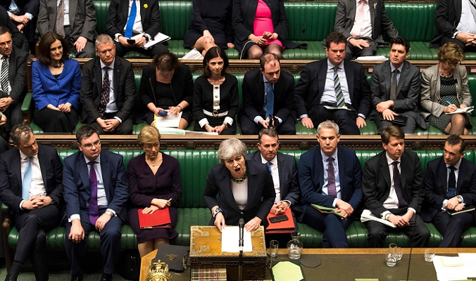 British MPs vote to reject no-deal Brexit