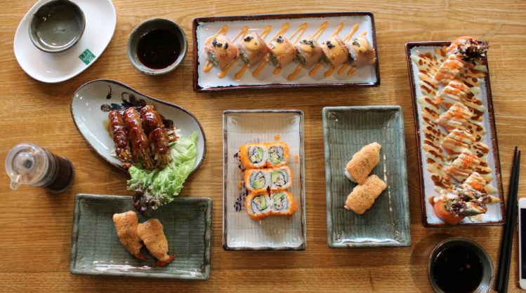 Taste the flavour of Sushi and Japanese food