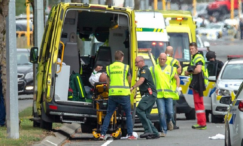 People were covered in blood': Witnesses describe shooting at New Zealand mosques