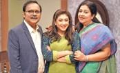 Suborna, Azad, Nila together in a serial