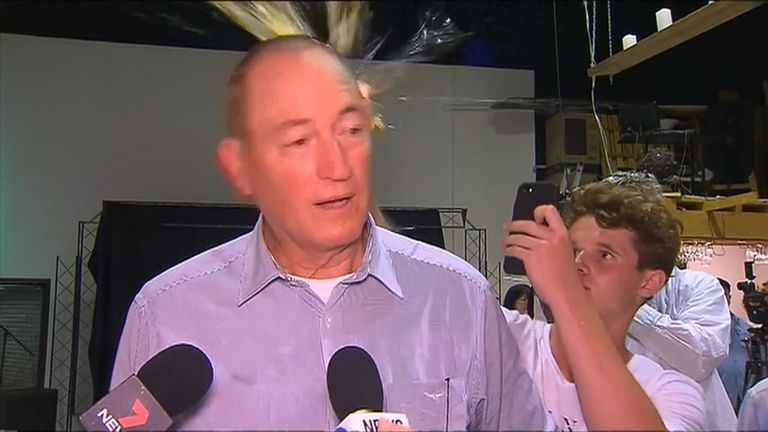 Australian senator egged after racist comments about Muslims (Video)