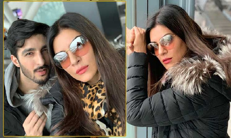 Sushmita Sen, Rohman Shawl spotted at London airport
