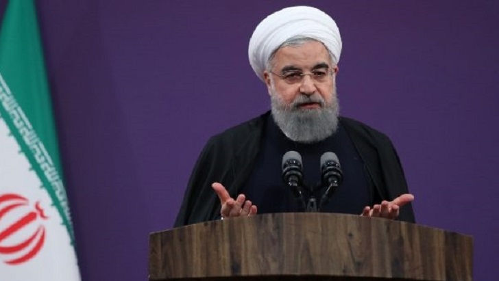 Iran's Rouhani urges Iranians to 'put all your curses' on US