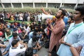DU students stage demo for DUCSU re-election