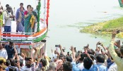 Ganges river as part of the election campaign