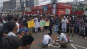 BUP student's death in road crash sparks protest in city; bus torched