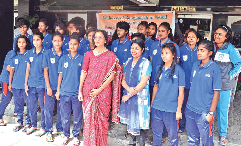 Eves pepped up by the Bangladesh Ambassador in Nepal