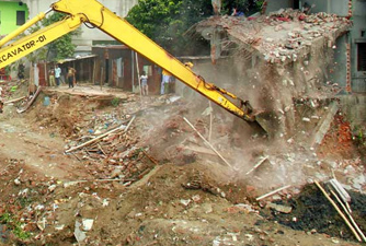 BIWTA demolishes 185 illegal structures from Turag's bank