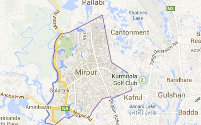 Three burnt in Mirpur fire