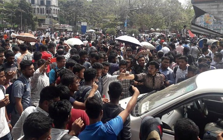Safe Road: Students block Shahbagh