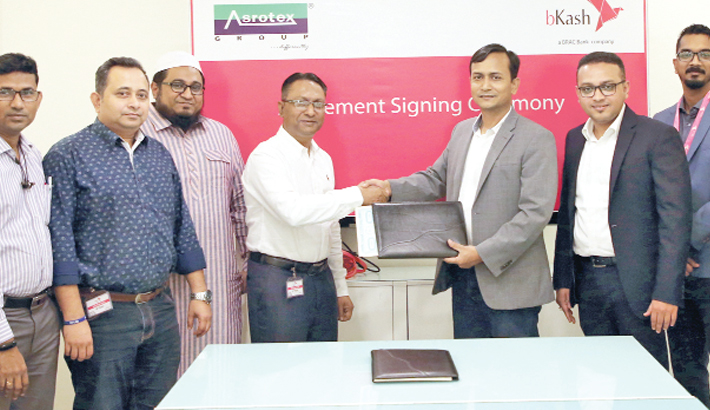 bKash signs deal  with Asrotex Group