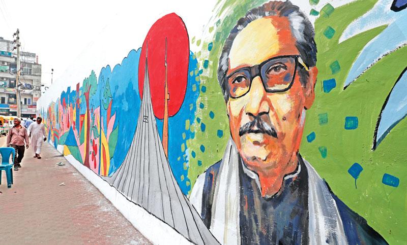 Painted on roadside walls