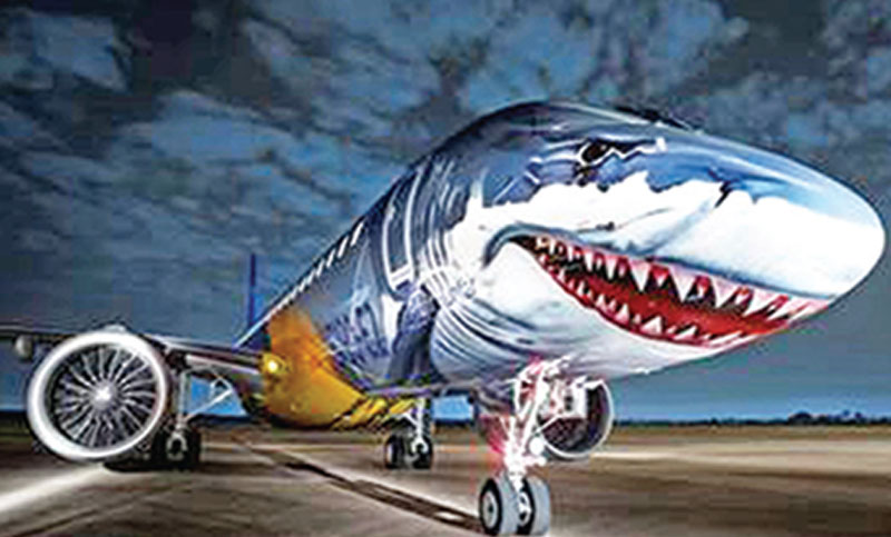 Shark-faced Embraer's jet displays capabilities