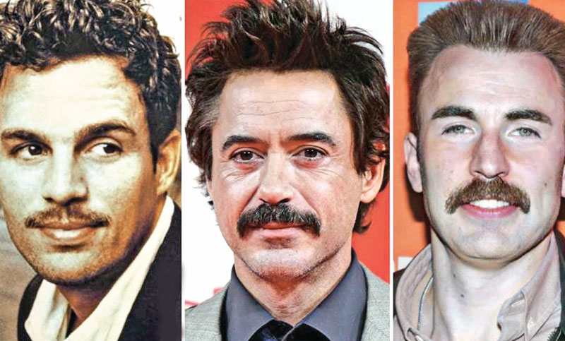 Downey Jr starts moustaches war with Evans, Ruffalo ahead of Avengers: Endgame