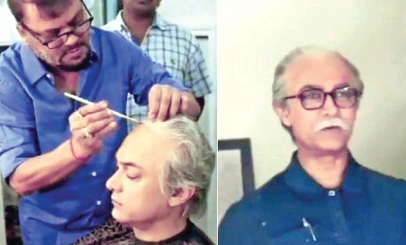 Aamir transforms into balding old man in new video