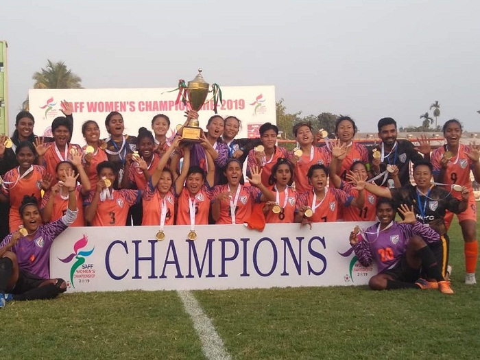 India clinch SAFF Women's title
