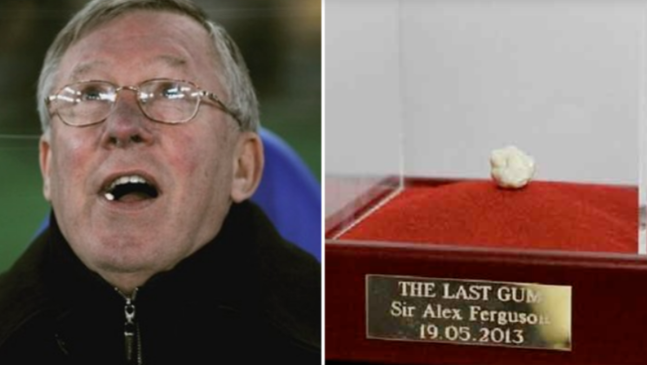 Sir Alex Ferguson's final chewing gum sells for 456,000 euros