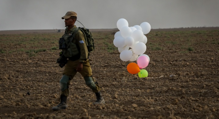 Israel strikes Gaza over bomb balloons: army