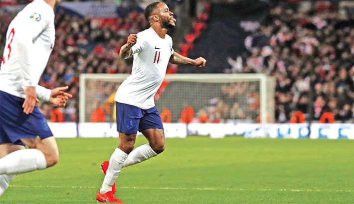 Sterling scores hat-trick as England beat Czech