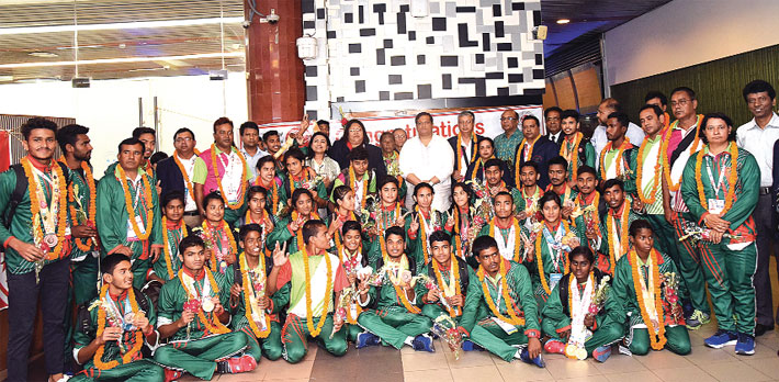 Bangladesh Special Olympics Team return home with 22 golds