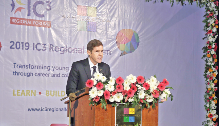 US Ambassador to Bangladesh Earl Robert Miller speaks