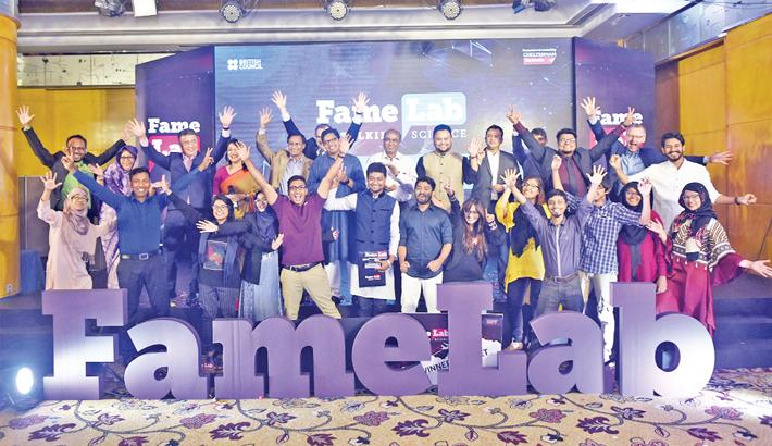 Contestants of National Finale of FameLab Bangladesh-2019