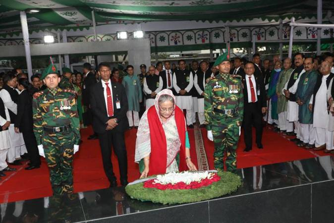 PM pays homage to Bangabandhu on Independence Day
