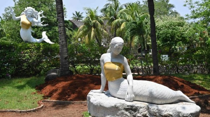 Indonesia theme park censors mermaid statues' breasts