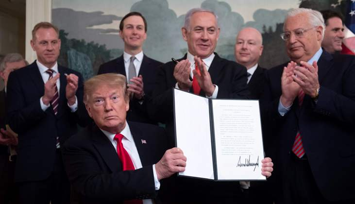Trump proclaims Golan Heights belongs to Israel despite international opposition