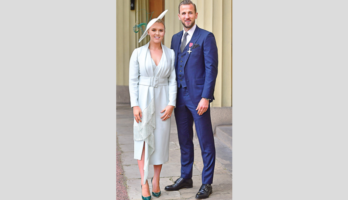 Harry Kane honoured at Buckingham Palace