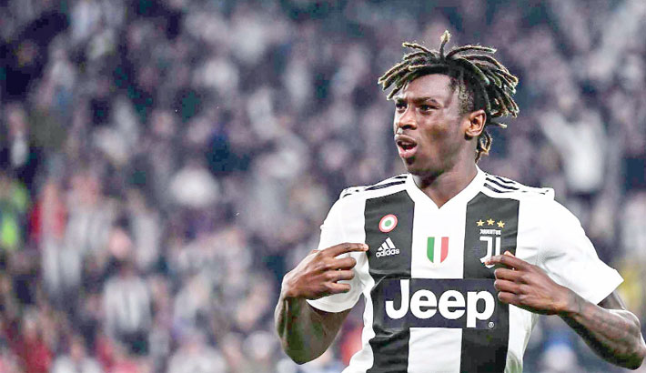Kean steps up in Ronaldo absence for Juve