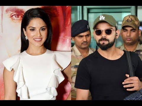 Virat Kohli with Sunny Leone at Airport? (video)