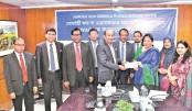 Mercantile Bank  donates Tk 1mn  to SWAC
