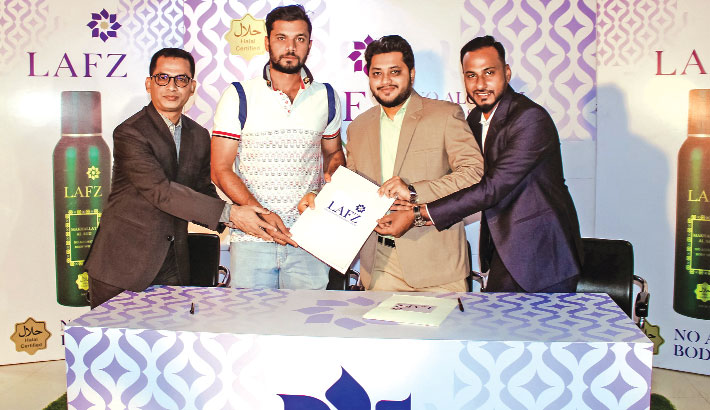 Mashrafe becomes Lafz Int'l brand ambassador