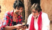 Amitabh's look from Tamil film Uyarntha Manithan out