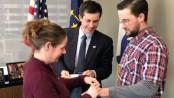 Pete Buttigieg: US mayor marries couple just before C-section