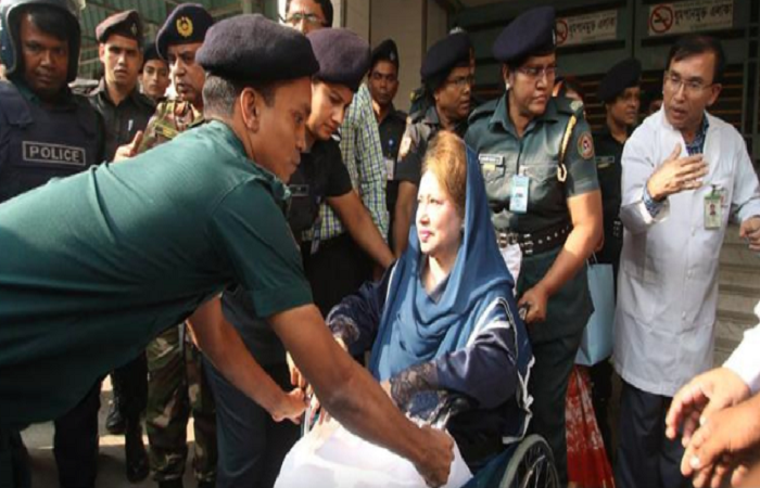 Khaleda Zia's health condition improving, say BSMMUdoctors