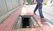Faulty manholes pose risk of accidents