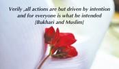 Sincerity in our deeds