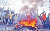 Jute workers stage rowdy protests