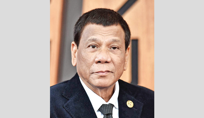 Philippine president warns China to back off disputed island