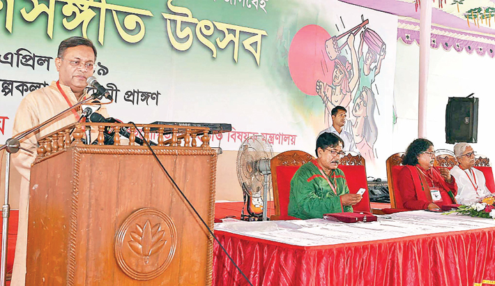 Gonosangeet played vital role in independent struggle, says Hasan