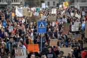 Tens of thousands protest climate change in Switzerland